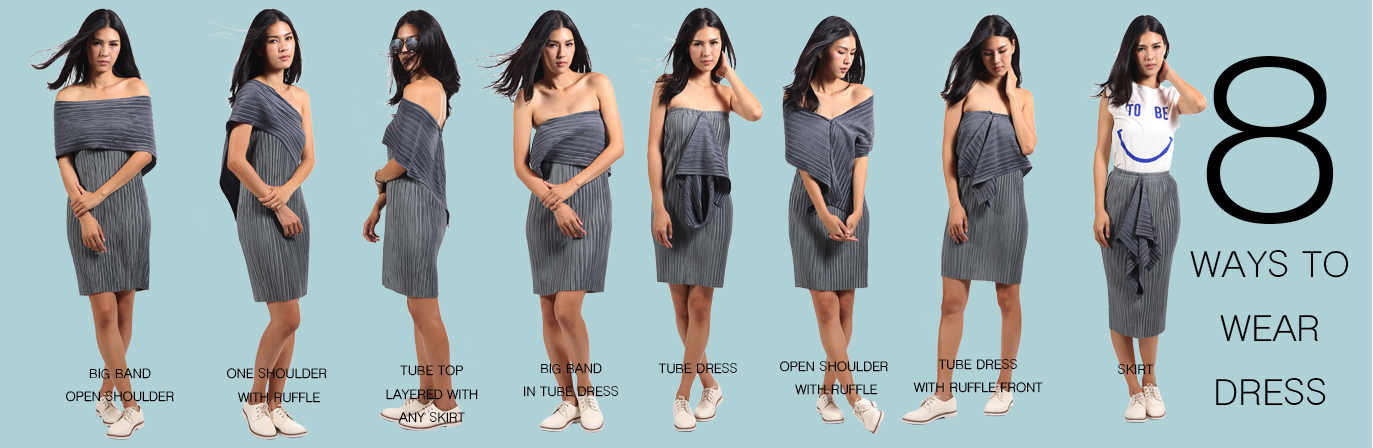 8 WAYS WEARING DRESS