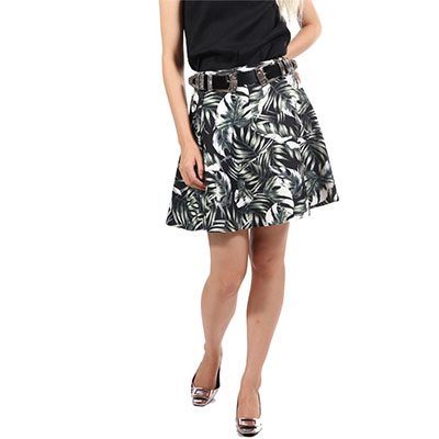 Military leave printed skirt