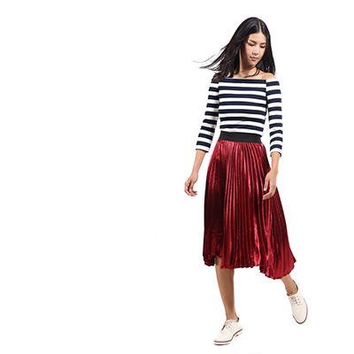 A classic French striped knit top