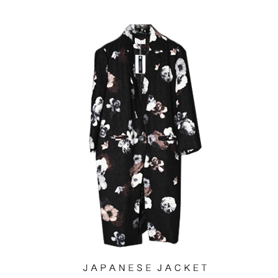 Digital flower print jacket