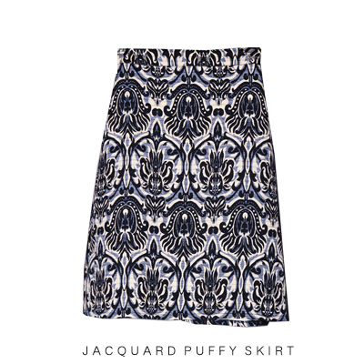 J++ MADE: brocade A line skirt